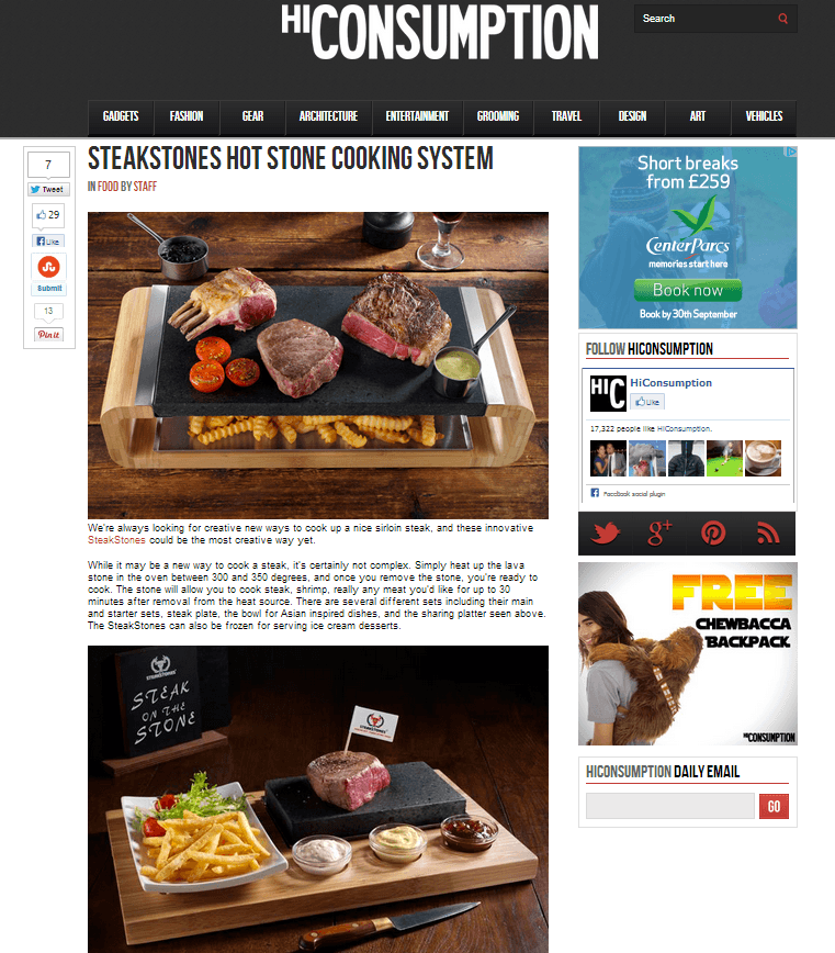 SteakStones featured in Hi Consumption